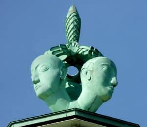 Monumentalskulptur Messeturm Köln, 1928 - Foto: Christian Wissel