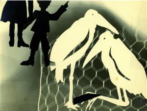 Ländlicher Besuch im Zoo, Marabugehege, um 1931 mit E. Schrammen | LÜBECKER MUSEEN, Museum Behnhaus Drägerhaus (Nachlass Schrammen)