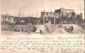 Postkarte von 1901 Hermsdorf vor der Bebauung durch die Siedlung
