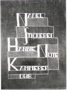 Stickerei des Werkstatt Logos - Lippisches Landesmuseum Detmold