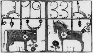 Gitter von 1930 aus dem Werkstattbericht des Kunstdienstes, Berlin 1940   Sammlung Gildenhall-Horizonte e.V.
