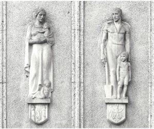 Familie, Kunststein 1930 - Sparkasse Ostprignitz-Ruppin