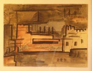 Bastion, Aquarell ca. 1922-24 | Sammlung Gildenhall-Horizonte e.V.