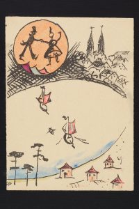 Einladungskarte für ein Tanzfest in Gildenhall, Eberhard Schrammen um 1925 | Foto: R.Wieczorek, Sammlung Museum Neuruppin